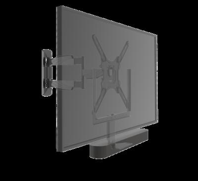 Cavus zwarte draaibare muursteun voor 32 - 55 Inch TV en Sonos Beam