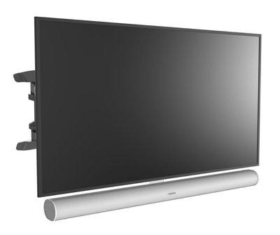 Cavus draaibare muursteun voor 37 - 65 Inch TV en witte Sonos ARC