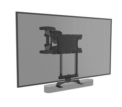 Cavus draaibare muursteun voor 37 - 65 Inch TV en witte Sonos Beam