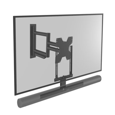 Cavus draaibare muursteun voor TV en zwarte Sonos ARC