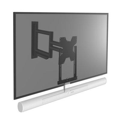 Cavus draaibare muursteun voor TV en witte Sonos ARC