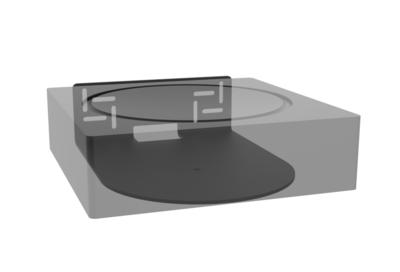Cavus muursteun voor Sonos AMP horizontaal