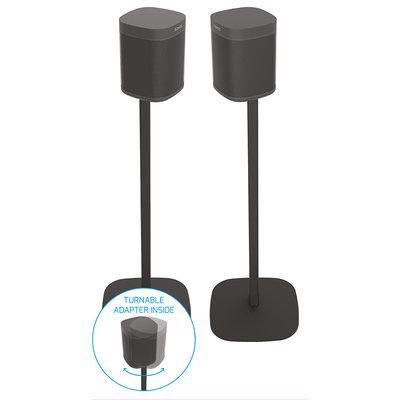 Cavus set zwarte draaibare vloerstandaards voor Sonos ONE