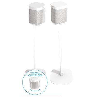 Cavus set witte draaibare  vloerstandaards voor Sonos ONE