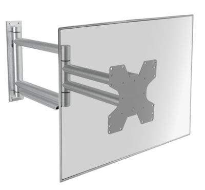 Cavus aluminium design muursteun voor 26 - 55 inch TV met extra lange arm