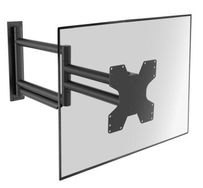 Cavus zwarte design muursteun voor 26 - 55 inch TV met extra lange arm