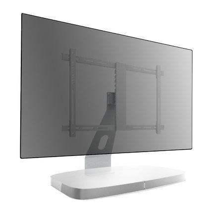 Cavus witte TV tafelstandaard voor Sonos Playbase voor 32 - 60 inch TV