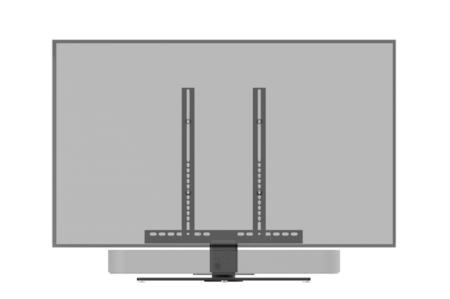 Cavus draaibare TV tafelstandaard met Sonos Beam frame voor 42 - 60 inch TV